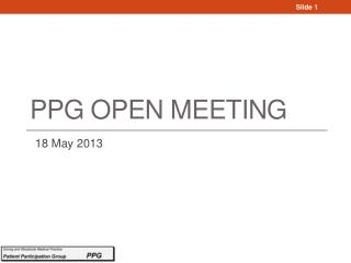 PPG Open Meeting