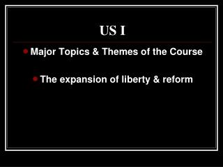 Theme V: Movement towards emancipation