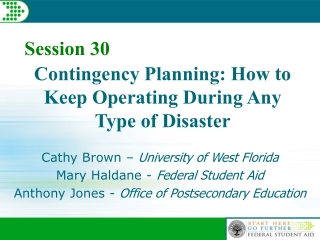 Contingency Planning: How to Keep Operating During Any Type of Disaster