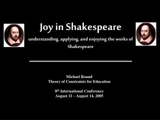 Joy in Shakespeare understanding, applying, and enjoying the works of Shakespeare