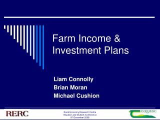 Farm Income & Investment Plans