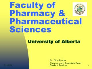 Faculty of Pharmacy & Pharmaceutical Sciences