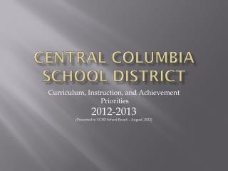 Central Columbia School District
