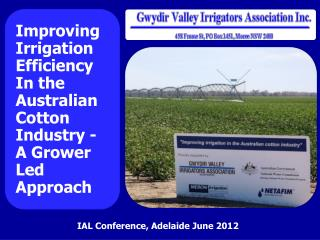 IAL Conference, Adelaide June 2012