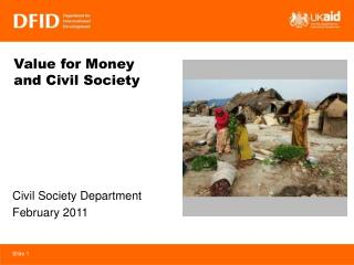 Value for Money  and Civil Society