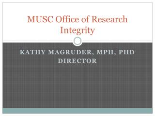 MUSC Office of Research Integrity