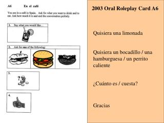 2003 Oral Roleplay Card A6