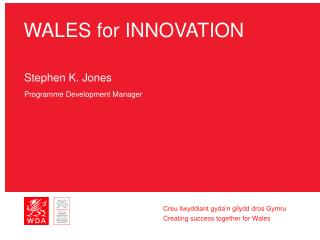 WALES for INNOVATION
