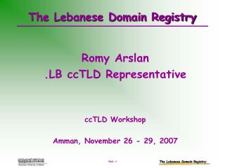 The Lebanese Domain Registry