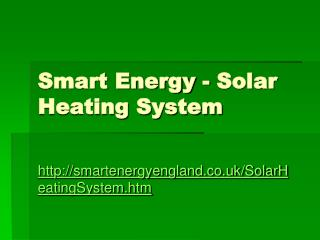 solar water heater from smart energy uk