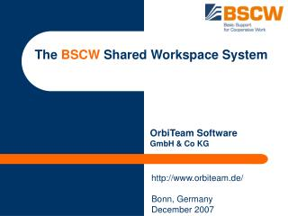 The  BSCW  Shared Workspace System
