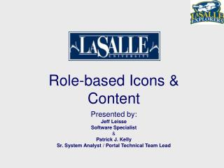 Role-based Icons & Content