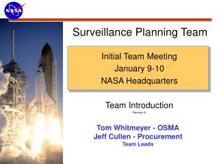 Surveillance Planning Team