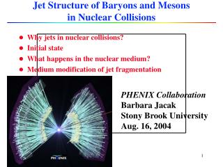 Jet Structure of Baryons and Mesons  in Nuclear Collisions