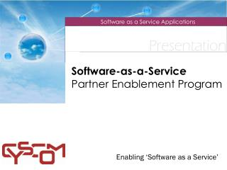 Software-as-a-Service Partner Enablement Program