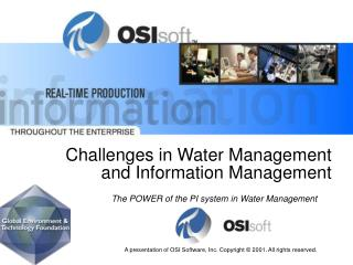 Challenges in Water Management  and Information Management