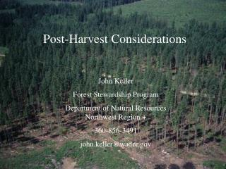 Post-Harvest Considerations