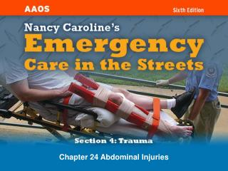 Chapter 24 Abdominal Injuries