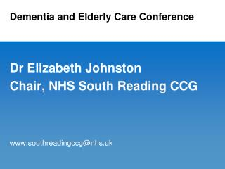 Dementia and Elderly Care Conference