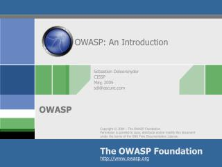 OWASP: An Introduction