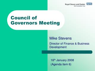 Council of Governors Meeting