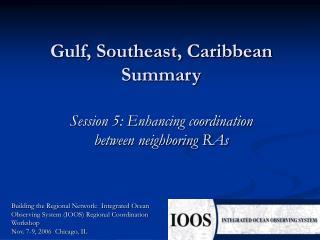 Gulf, Southeast, Caribbean Summary