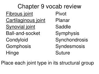 Chapter 9 vocab review