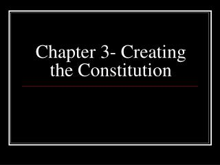 Chapter 3- Creating the Constitution