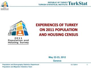EXPERIENCES OF TURKEY ON 2011 POPULATION AND HOUSING CENSUS