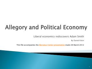 Allegory and Political Economy