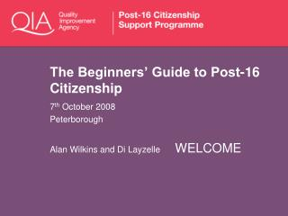 The Beginners' Guide to Post-16 Citizenship