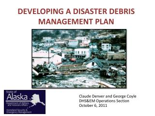 DEVELOPING A DISASTER DEBRIS MANAGEMENT PLAN