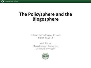 The  Policysphere  and the Blogosphere
