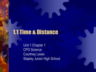 1.1 Time & Distance
