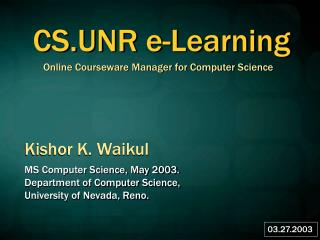 Online Courseware Manager for Computer Science