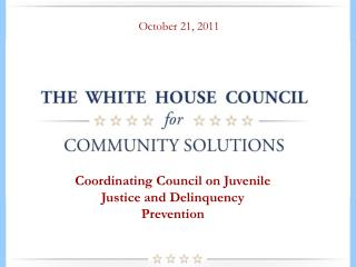 Coordinating Council on Juvenile Justice and Delinquency Prevention