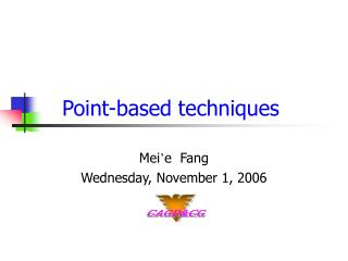Point-based techniques