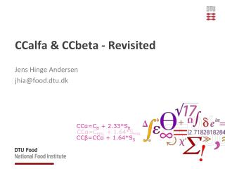 CCalfa  &  CCbeta  - Revisited