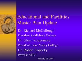 Educational and Facilities Master Plan Update