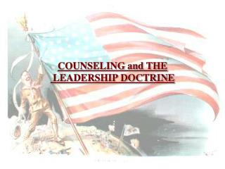COUNSELING and THE   LEADERSHIP DOCTRINE