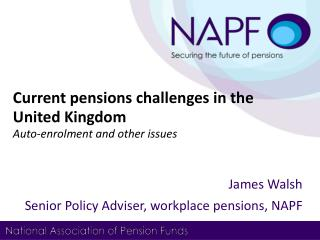 Current pensions challenges in the United Kingdom  Auto-enrolment and other issues