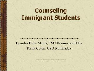 Counseling Immigrant Students