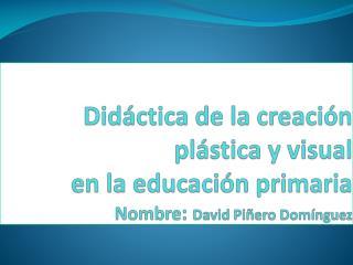 Didáctica de la creación plástica y visual   en la educación primaria Nombre :  David Piñero Domínguez