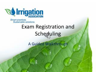 Exam Registration and Scheduling