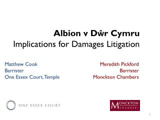 Albion v Dŵr Cymru Implications for Damages Litigation