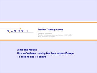 Teacher Training Actions