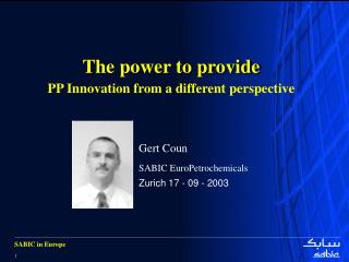 The power to provide PP Innovation from a different perspective