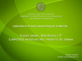 Scienze Umane, Web Design e IT Competenze incrociate per i prodotti del domani