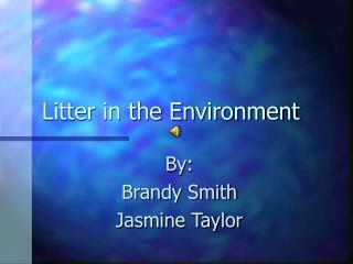 Litter in the Environment