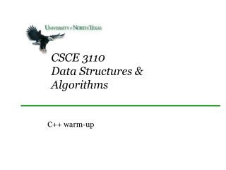 CSCE 3110 Data Structures & Algorithms